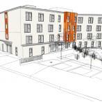 Vue 3D du bâtiment (façade principale)