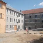 Cour intérieure en chantier