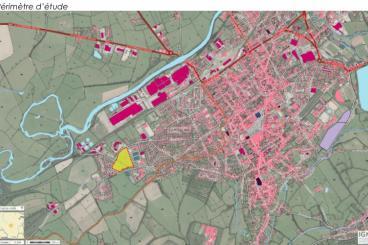 plan localisation zone d'étude