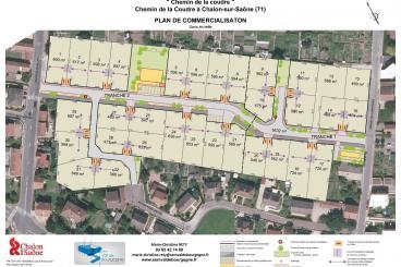Plan du projet sur vue aérienne du quartier