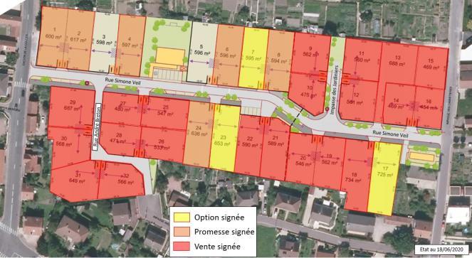 Terrains disponibles au 18 juin 2020